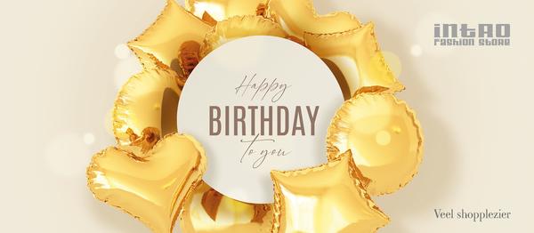 Gelukkige verjaardag - gold
